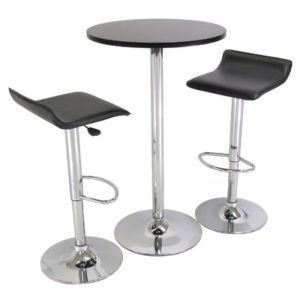 3-Piece+24%22+Pub+Table+Set+with+Chrome+Accents conference booth furniture